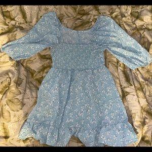 Light Blue Daisy Print Dress